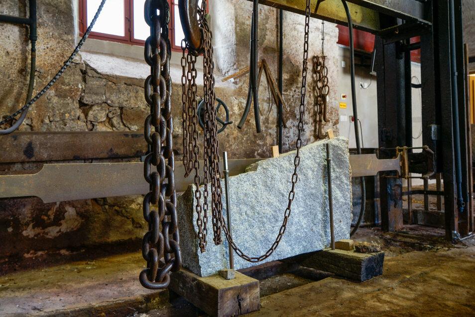"""Im Erlebnismuseum """"Alte Steinsäge"""" ist zu sehen, wie der Granit einst verarbeitet wurde."""