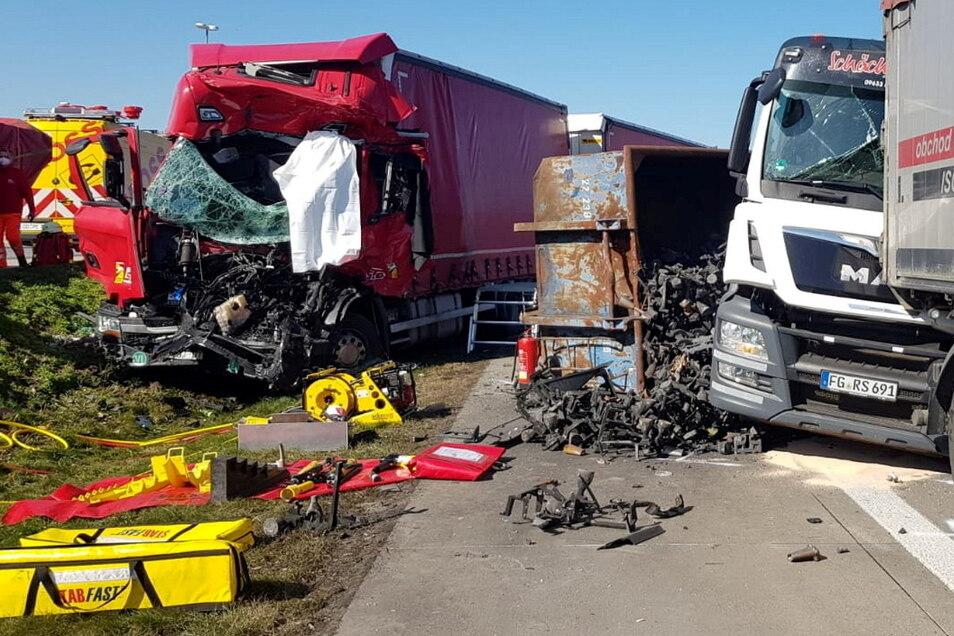 Die Unfälle auf der A4 bei Wilsdruff sind oft heftig.