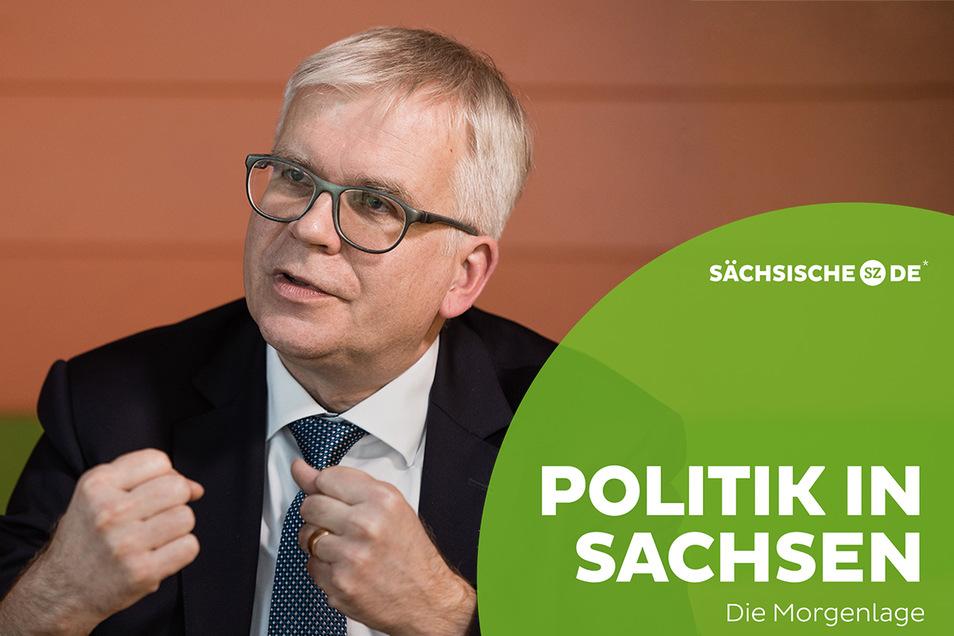 Hartmut Vorjohann (CDU) stellte am Dienstag den Haushaltsplan für 2021/22 vor.