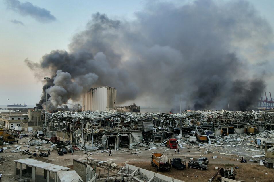 Als die Lagerhalle explodierte, war der Pirnaer Politiker Oliver Wehner gerade mit seiner Frau einkaufen.