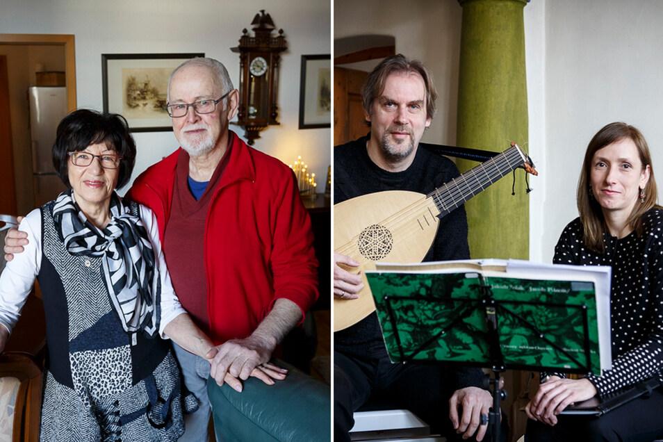Ruth und Hans-Hermann Schneider (li.) und Maria Skiba und Frank Pschichholz haben ganz unterschiedliche Erfahrungen als Neugörlitzer gesammelt.