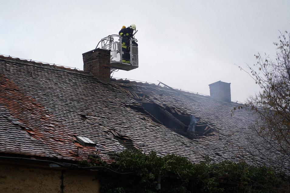 Die Weißenberger Feuerwehren waren am Freitag in Gebelzig im Einsatz.