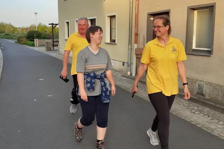 Walking statt Judo: Die Großenhainer UHU's starteten am Freitag vorsichtig ins Training.