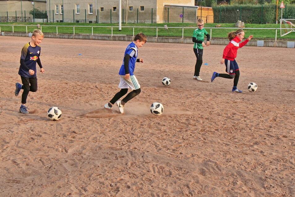 Vor allem bei schlechtem Wetter ist der Hartplatz für das Fußballtraining eine Zumutung.