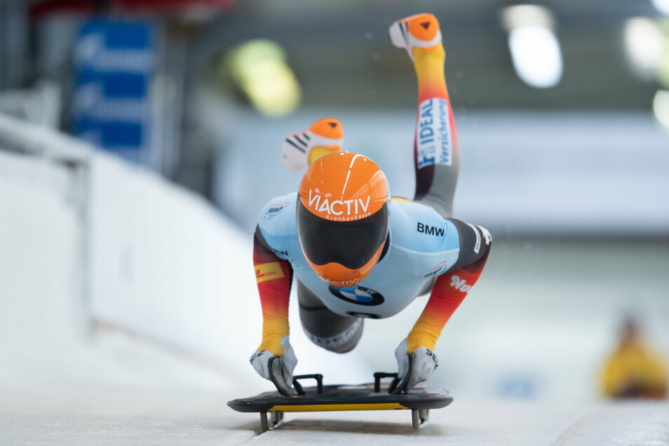 Auf den Schlitten, fertig, los. Axel Jungk hat bei der Heim-WM unerwartet große Medaillenchancen.