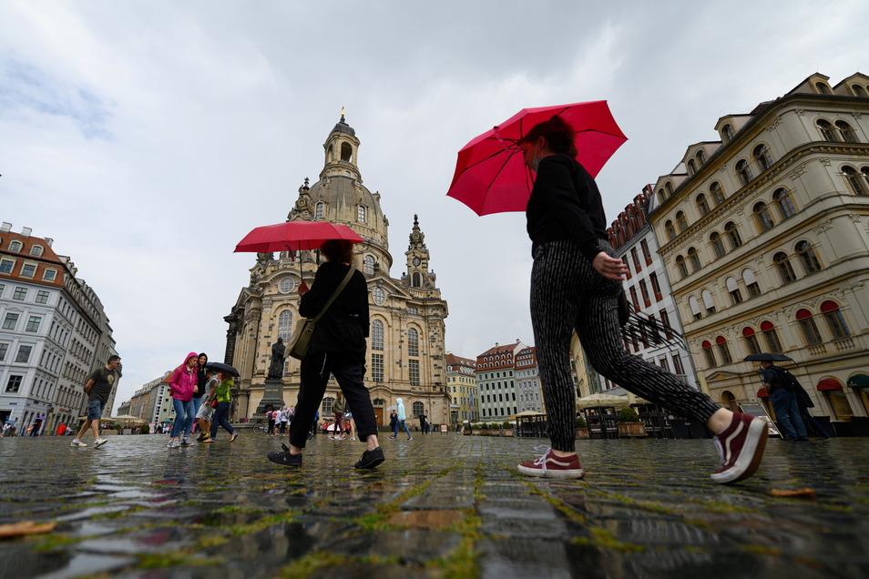 Hin und wieder soll es in dieser Woche in Sachsen regenen.