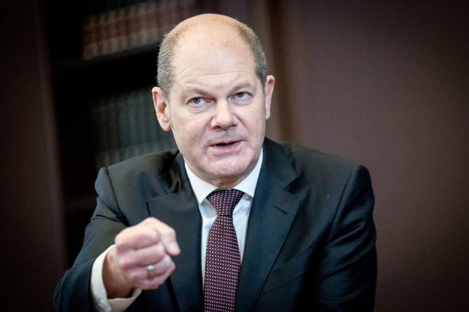 Olaf Scholz (SPD), Bundesminister der Finanzen und SPD-Kanzlerkandidat.