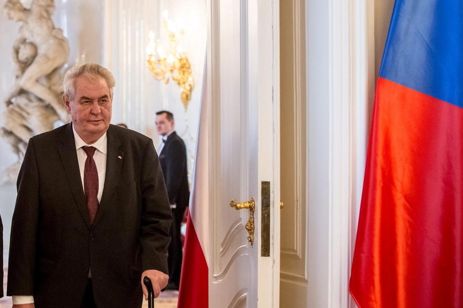 Präsident Zeman ist bereits seit einiger Zeit gesundheitlich angeschlagen.