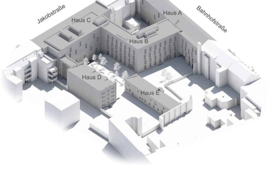 So soll der neue Senckenberg-Gebäudekomplex an Bahnhofs- und Jakobstraße aussehen.