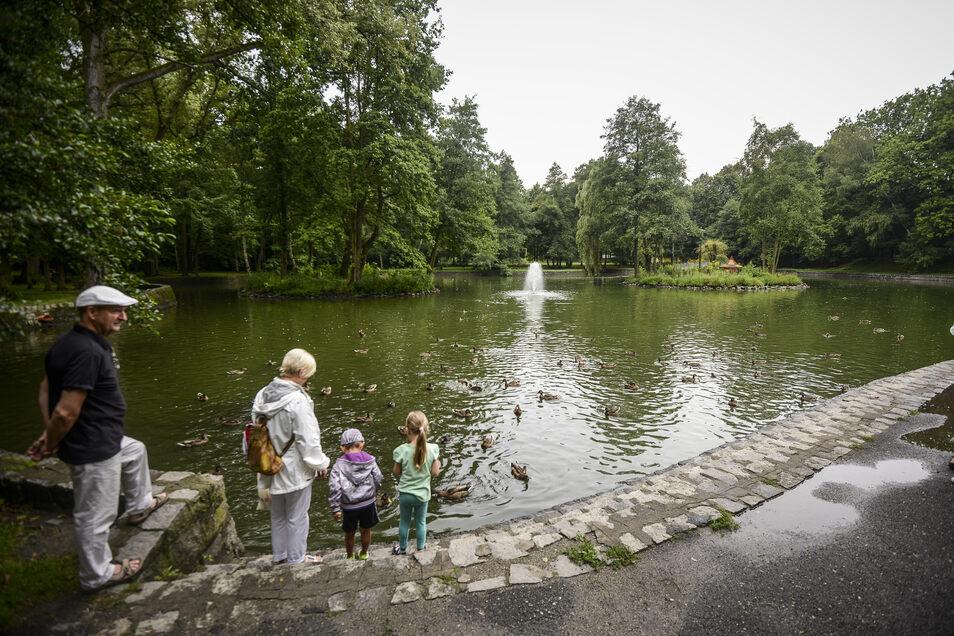 Der Park Blachanca in der Nähe des Dom Kulturys.