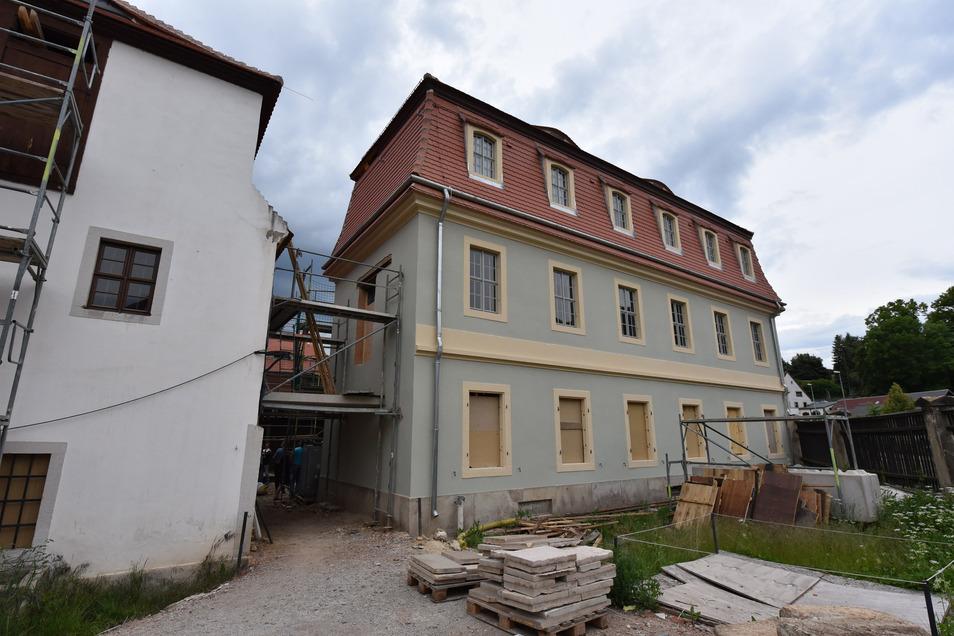 Baustelle Museum: Dippoldiswalde zeigt, wie das Gebäude derzeit umgebaut und saniert wird.