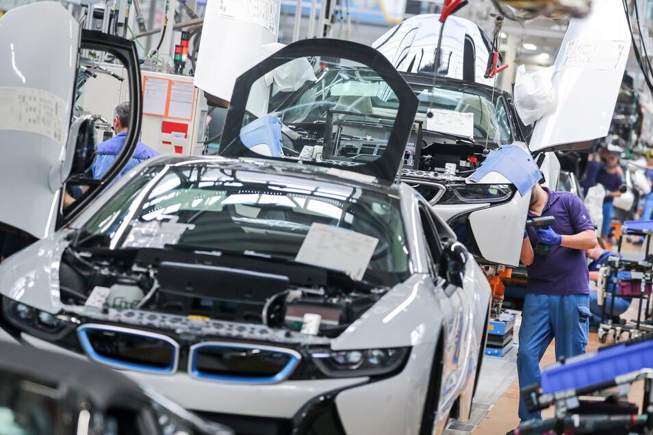 Ab Freitagnachmittag sollen die Bänder im Leipziger BMW-Werk stillstehen.