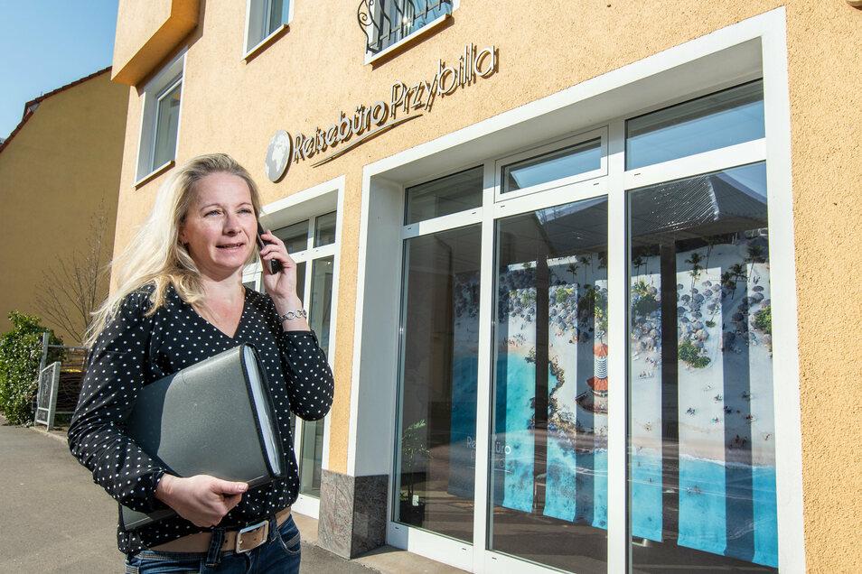 Sandy Przybilla vom Reisebüro Przybilla in Döbeln ist vorsichtig optimistisch, dass es mit der Branche wieder aufwärts geht.