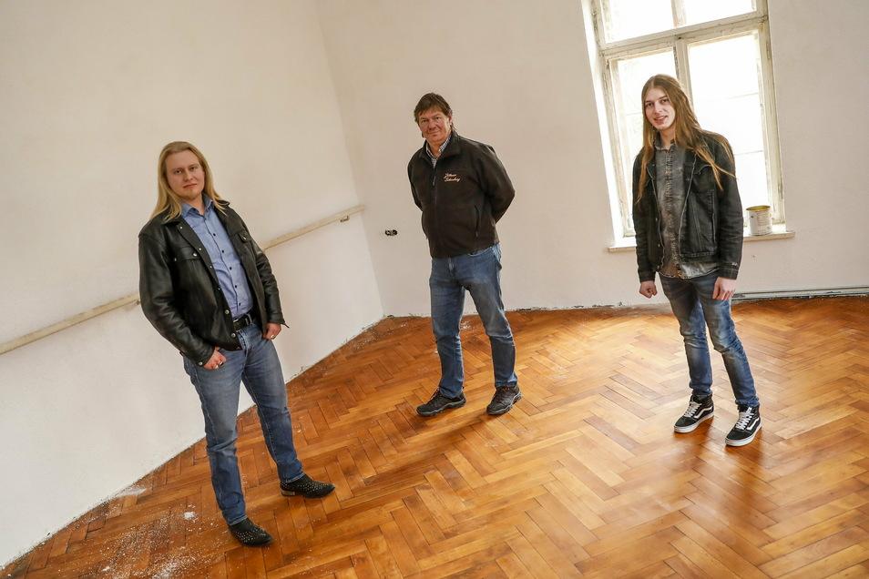 Im November waren Toni Jährig (links) und Tobias Heiden (rechts) noch optimistisch, im Frühjahr mit ihrer Musikschule in der Schauburg starten zu können.