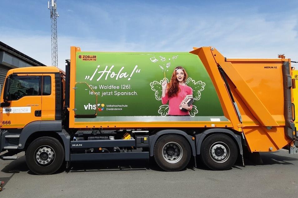 Dieser Müllwagen darf einem durchaus Spanisch vorkommen.