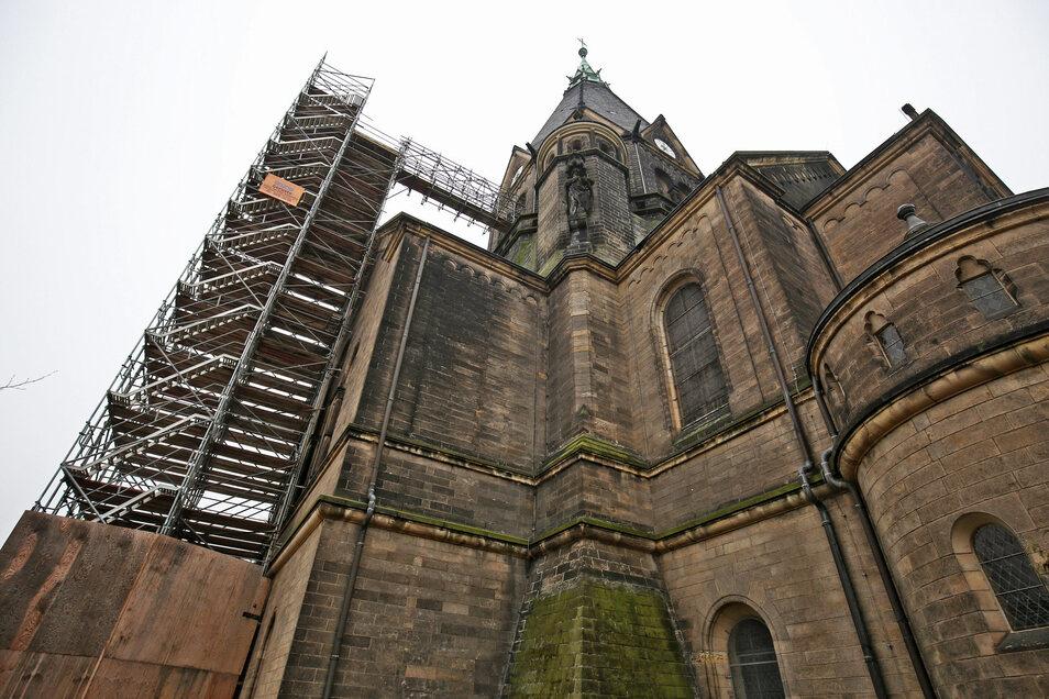 Das Foto der Trinitatiskirche entstand im Februar dieses Jahres. Die größte Kirche Riesas steht am Wochenende für Besucher offen.