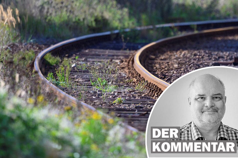 Sächsische.de-Reporter Tilo Berger kommentiert die Diskussion um eine Wiederbelebung von stillgelegten Bahnstrecken.
