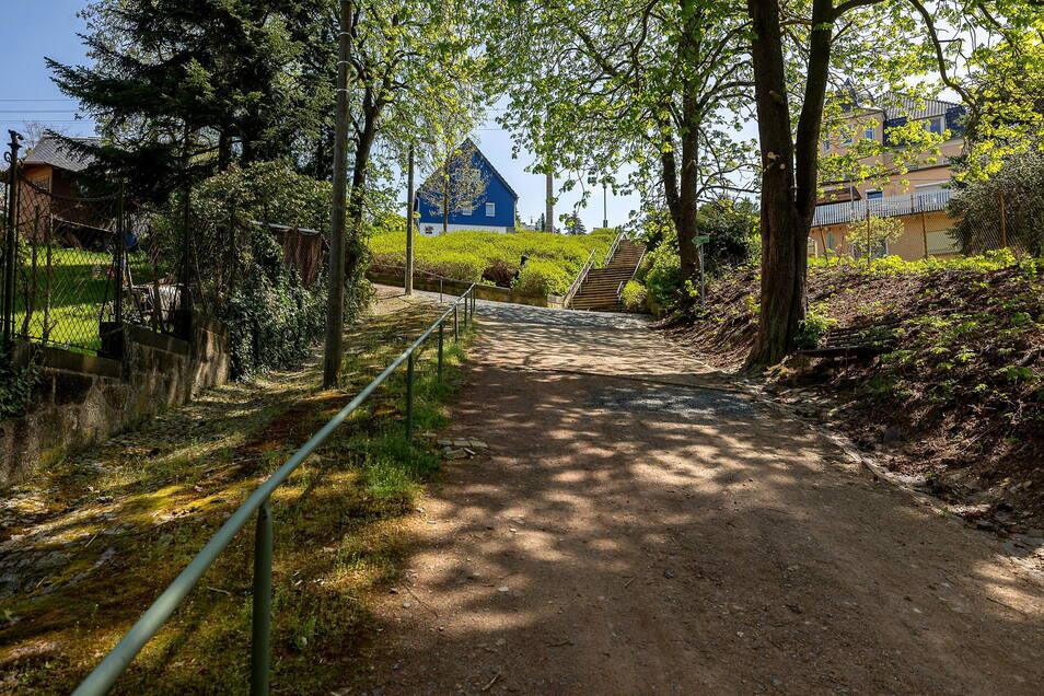 Der Mühlberg in Rabenau soll in diesem Jahr saniert und aufgewertet werden.