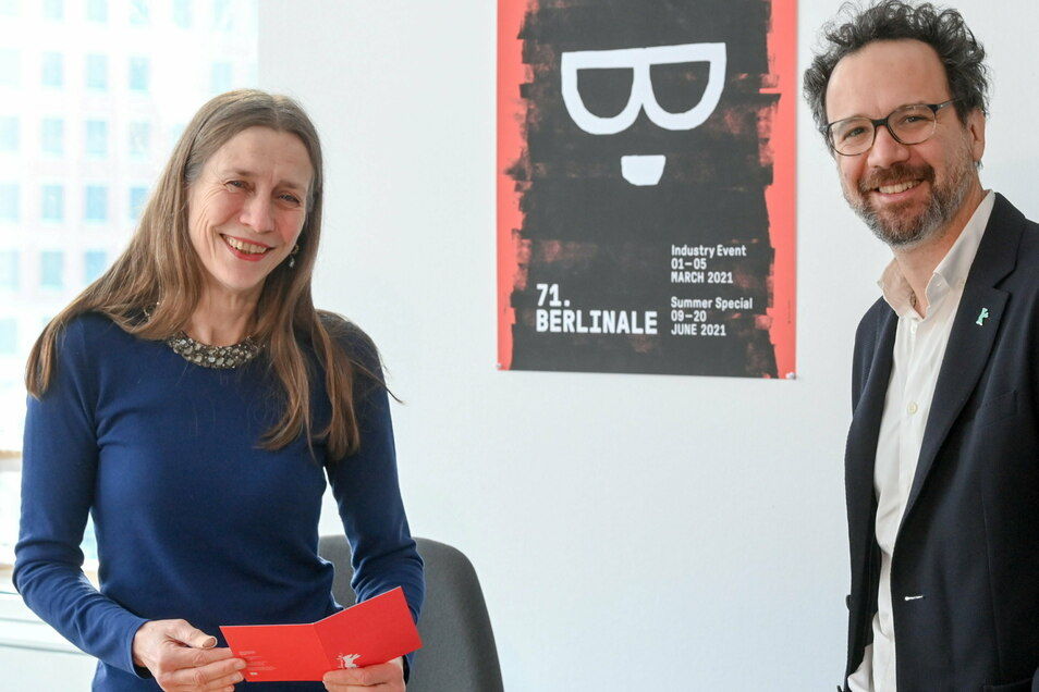Das Leitungs-Duo der Berlinale, Mariette Rissenbeek und Carlo Chatrian. Die 71. Berlinale wird wegen der Pandemie in diesem Jahr geteilt - auf einen digitalen Branchentreff im März und ein öffentliches Festival im Juni.