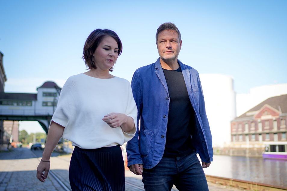 Annalena Baerbock, Bundesvorsitzende von Bündnis 90/Die Grünen, und Robert Habeck, Bundesvorsitzender von Bündnis 90/Die Grünen.