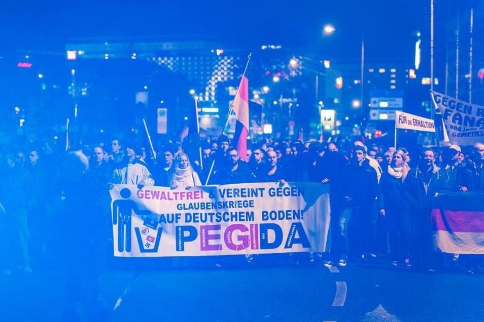 Noch immer haben die Anti-Islam-Demos in Dresden einen großen Zustrom.