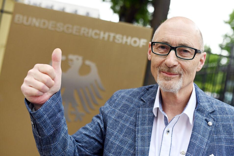 Herbert Gilbert hat vor dem Bundesgerichtshof erfolgreich gegen den Autobauer VW im Dieselskandal geklagt.