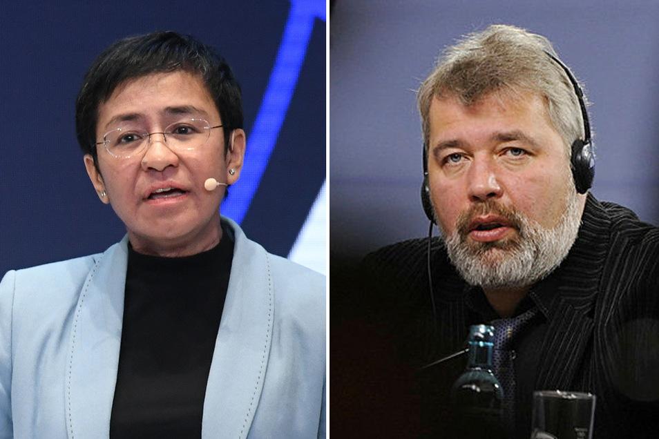 Die Journalisten Maria Ressa und Dmitri Muratow werden mit dem Friedensnobelpreis ausgezeichnet.