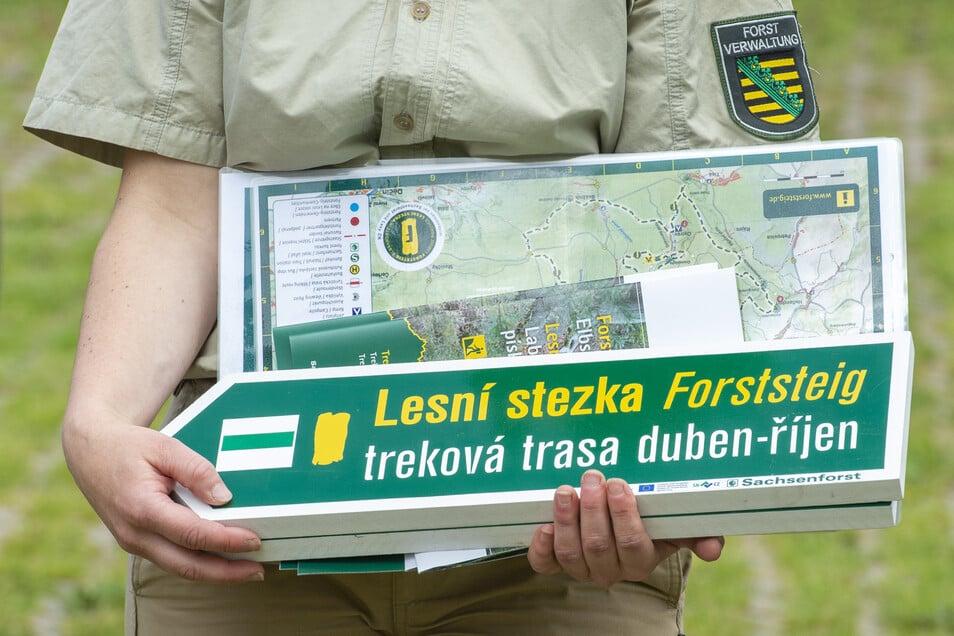 Auf dem Forststeig kann man bis in die Böhmische Schweiz wandern.
