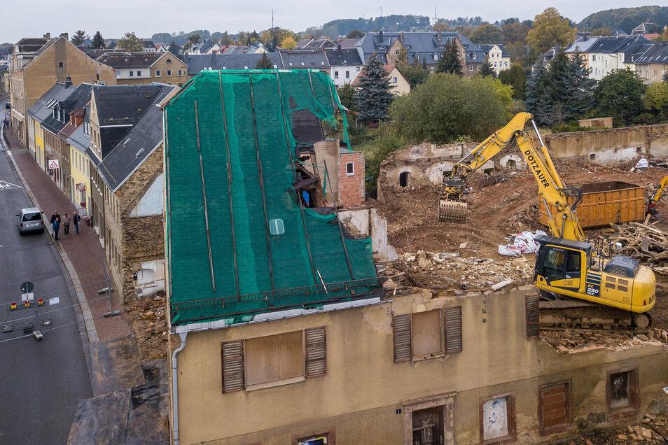In dieser Woche wird das letzte Gebäude des Stadtgutes in Hartha abgerissen.