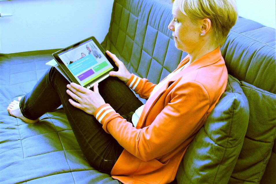 Neues Patientenportal des Pirnaer Klinikums: Bequem übers Tablet persönliche Behandlungsunterlagen einsehen.
