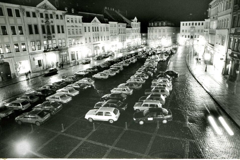 Auf dem Zittauer Marktplatz durfte jahrzehntelang geparkt werden.
