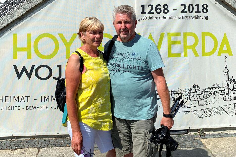 Das Ehepaar Beyer aus Erfurt erfreut sich an der Schönheit der Altstädte in Bautzen und Hoyerswerda. Motive fand der Hobbyfotograf vor allem auf dem Markt.