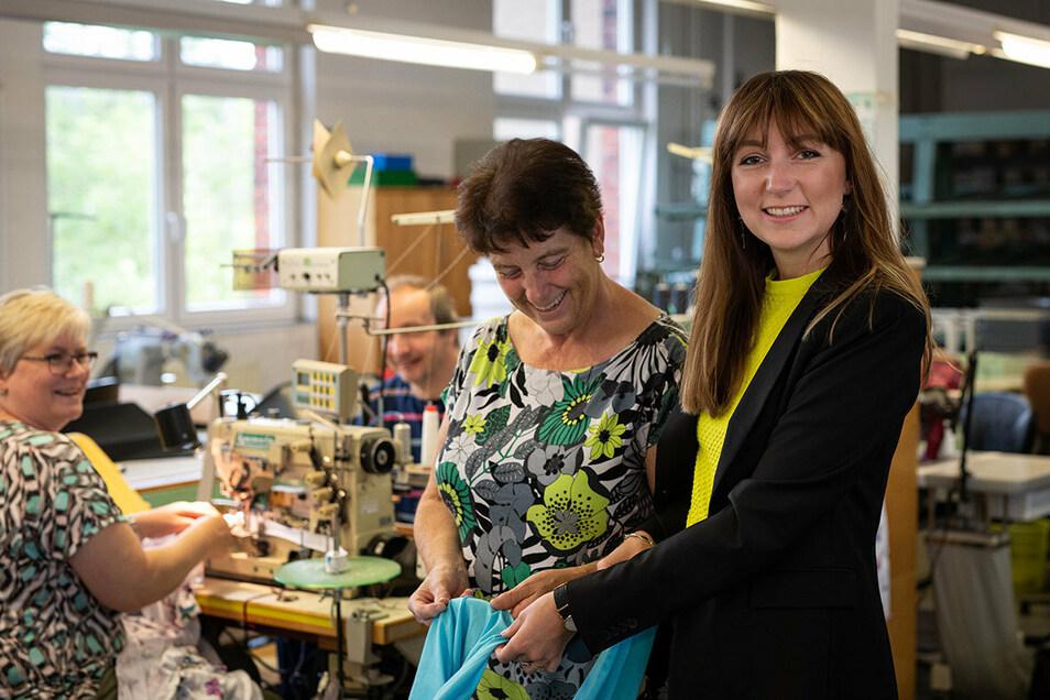 Sara Linke will mit einem Textil-Traditionsunternehmen aus Hohenstein-Ernstthal durchstarten.