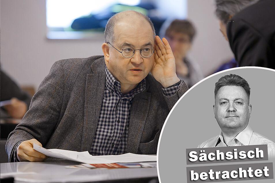 Dass Arno Vaatz (l) zum Festakt am 3. Oktober eine Rede halten soll, stößt nicht auf Begeisterung bei etlichen Landtagsabgeordneten.