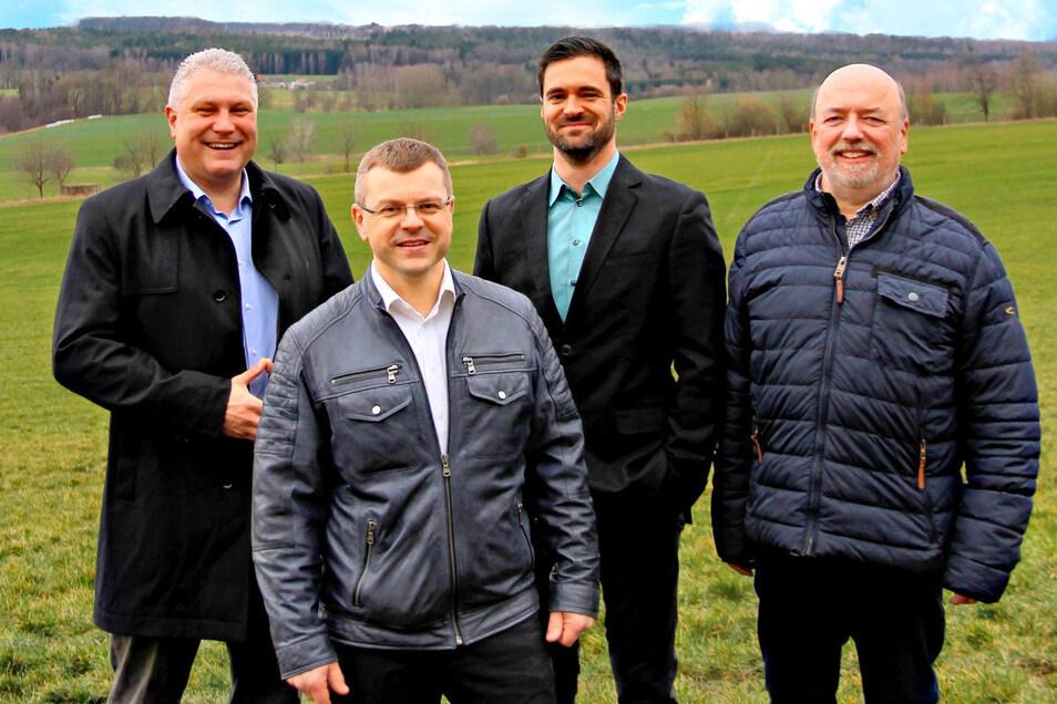 Die CDU-Kandidaten: Armin Stettinius, Lars Mittmann, Thomas Lapp, Frank Sander.