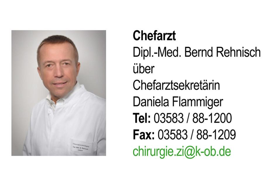 In ZITTAU beweist das Team von Dipl.-Med. Bernd Rehnisch Expertise. Das Leistungsspektrum beinhaltet hier die Allgemein- und Viszeralchirurgie, die endoskopische und minimal-invasive Chirurgie, das Hernienzentrum sowie die Gefäß-, Kinder-, Unfall-, Hand- und Rheumachirurgie.