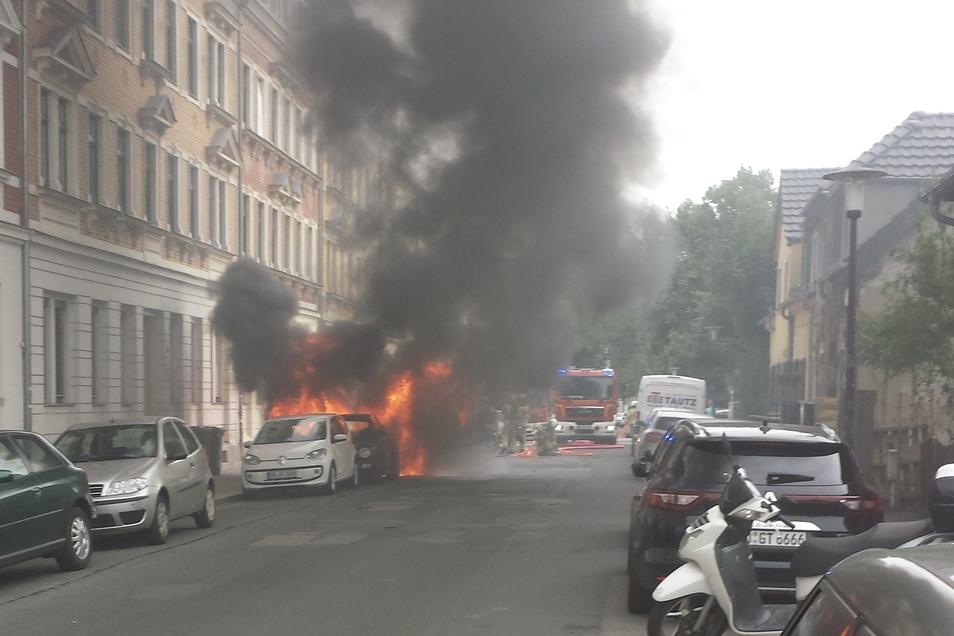 Das Auto war auf der Micktener Straße abgestellt worden.