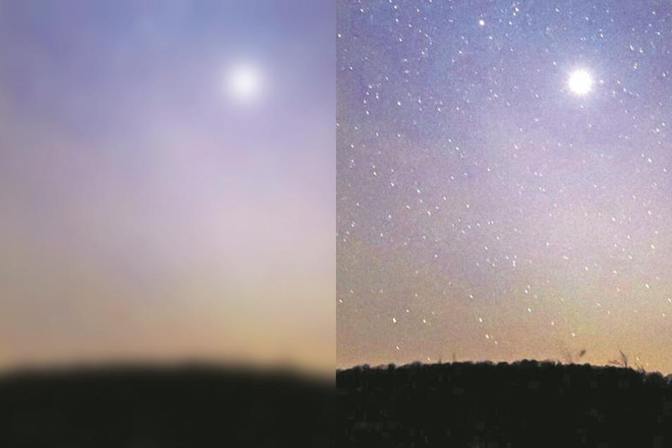 Immer wieder kommt es zu ungeklärten Lichterscheinungen. Dieser helle Feuerball wurde 1991 zum Beispiel von zahlreichen Menschen in Hessen und Baden-Württemberg beobachtet.