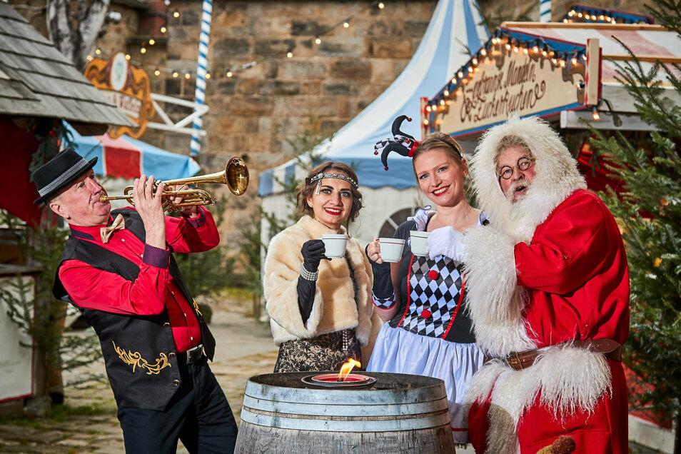 Absoluter Besuchermagnet: Der historisch-romantische Weihnachtsmarkt auf der Festung Königstein.