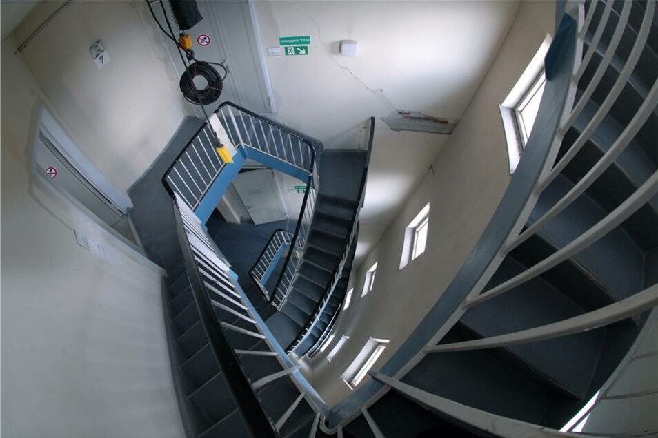 Falls die Lifte nicht fahren, kann man auch 750 Stufen steigen.