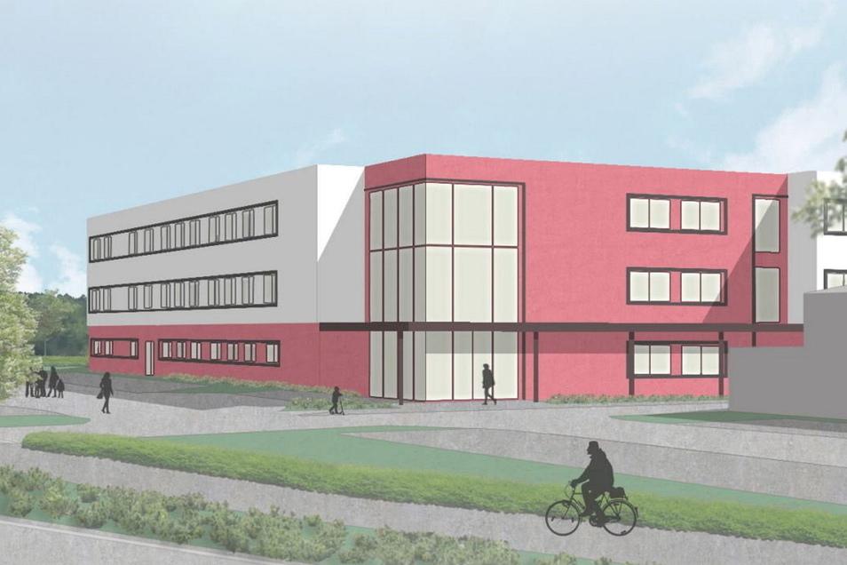 Auf der grünen Wiese am Ortseingang aus Richtung Bautzen will Göda einen neuen Schulstandort errichten. Grund- und Oberschüler sollen hier unterrichtet werden - und Unternehmen ihre Lehrlinge finden.