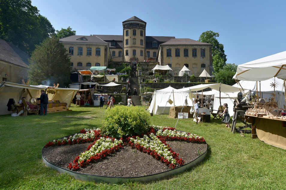 Anziehungspunkt nicht nur zum barocken Gartenfest: Das Schloss Hainewalde.