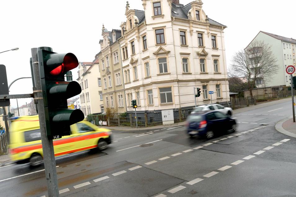 Die Kreuzung Dresdner/Rietschelstraße.