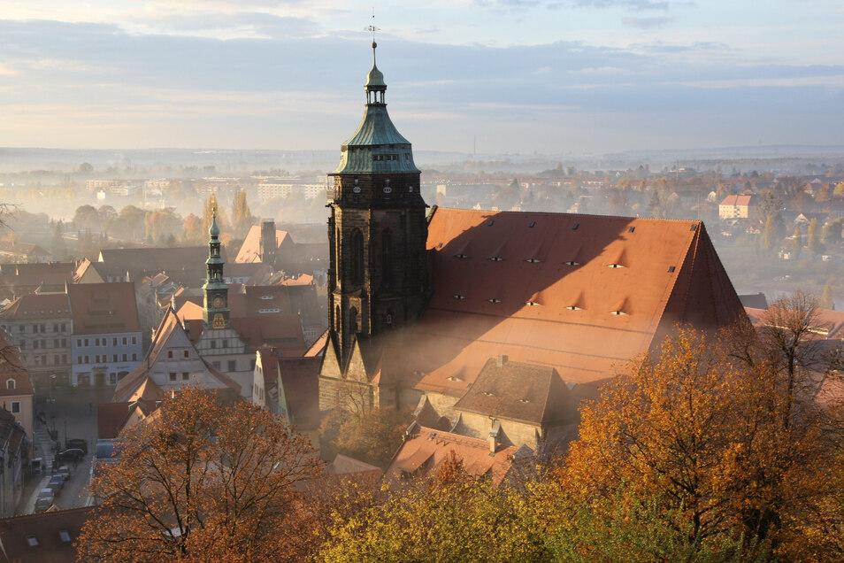 In St. Marien in Pirna wird wieder Gottesdienst gefeiert.