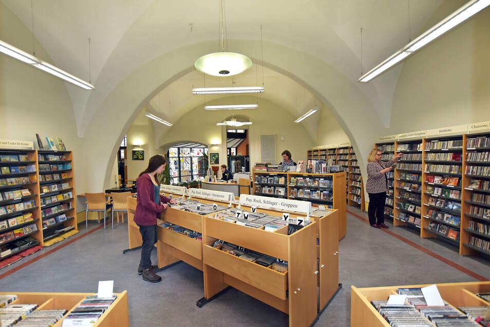 ... ebenso wie die Bibliothek in Bautzen ...