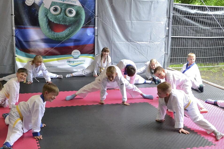 Die Kinder können bei Tomogara in Kamenz ab sofort im Außengelände trainieren.