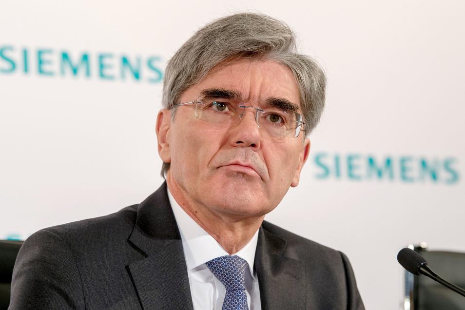 Joe Kaeser, Vorstandsvorsitzender von Siemens, hat sich nicht umstimmen lassen.