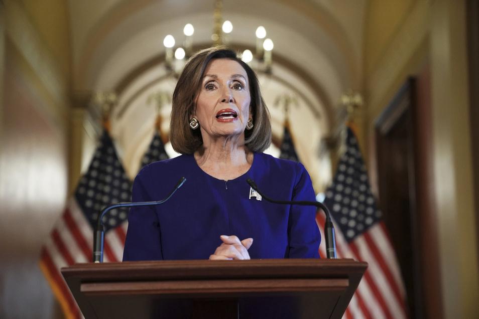 Nancy Pelosi, Vorsitzende des US-Repräsentantenhauses, hat die Weigerung des Weißen Hauses zu einem Frontalangriff auf den Präsidenten genutzt.