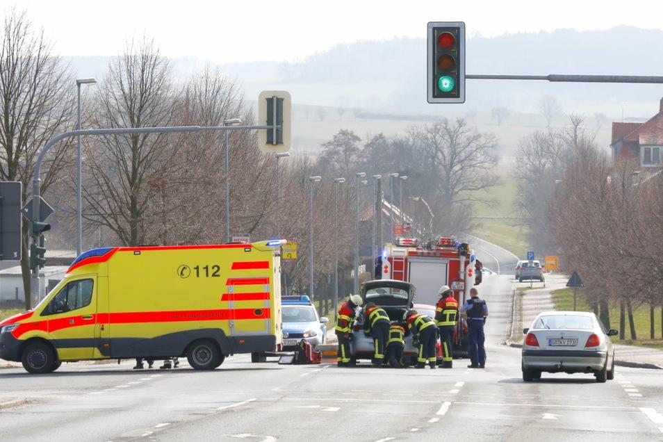 Ein Bild von der Unfallstelle.