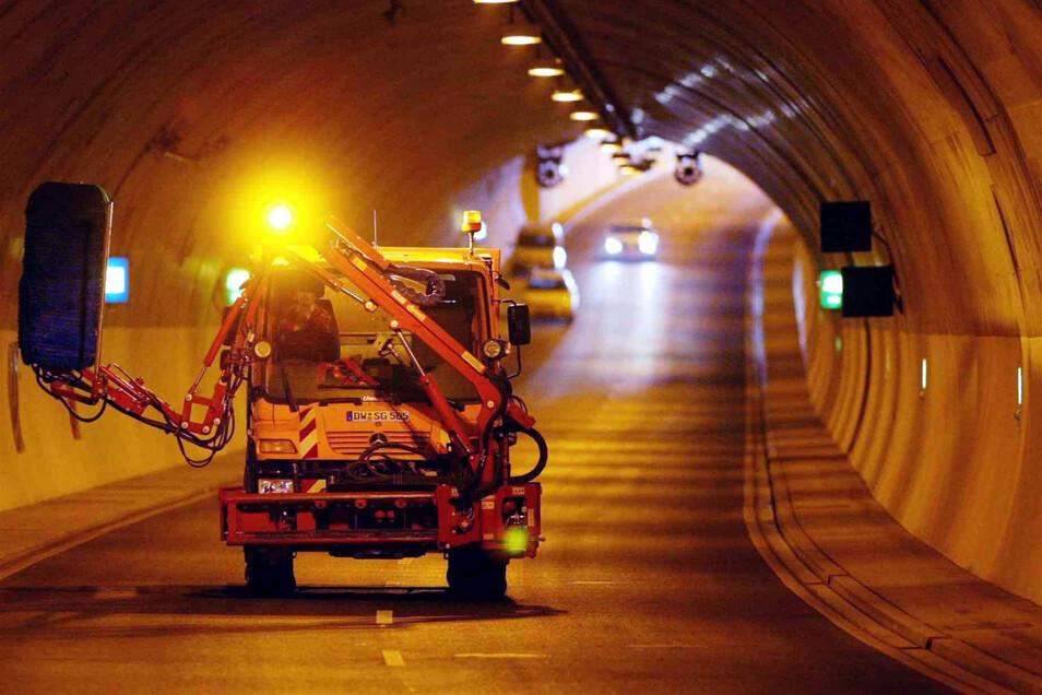 Der Tunnel Bramschstraße in Dresden-Cotta wird ab Montag gewartet und gereinigt.